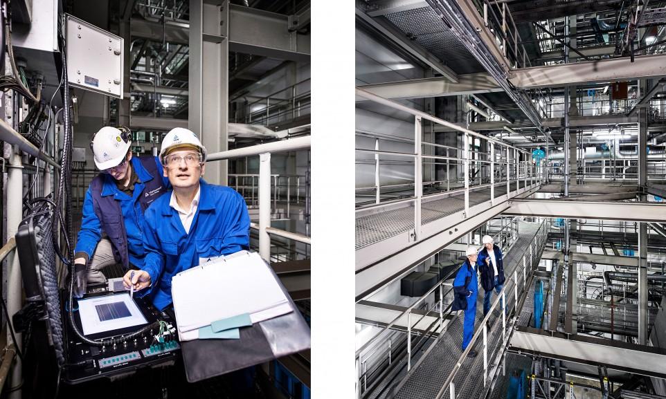 Ein festes Team prüft in Neurath die Kraftwerksblöcke 2 & 3