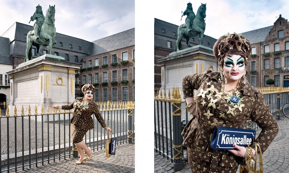 Freifrau von Kö, selbsternannte Millionärsgattin für Der Spiegel