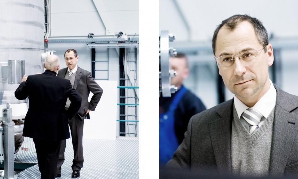 Robert M. Hartung und Dirk Stenkamp, CEO Centrotherm AG