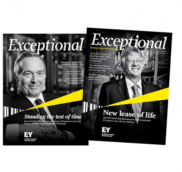 Exceptional Kundenzeitschrift Ernst & Young / London