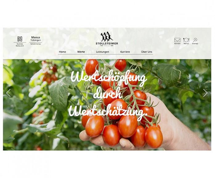 Internetseite Stollsteimer Catering /Stuttgart