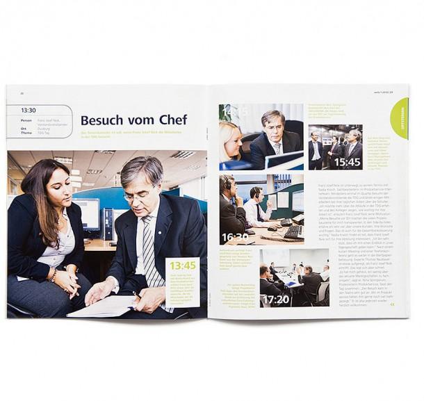 Mitarbeiterzeitschrift VOILÁ Targobank / Düsseldorf