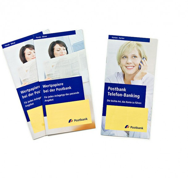 Werbemittel für die Postbank / Bonn