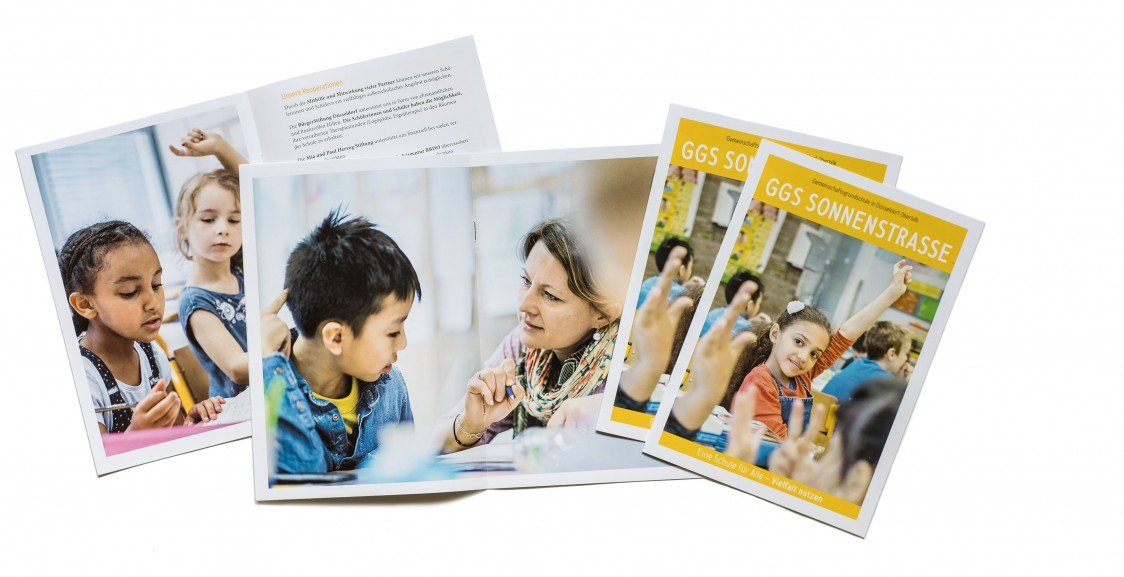 Informationsmaterial für eine Düsseldorfer Brennpunktschule