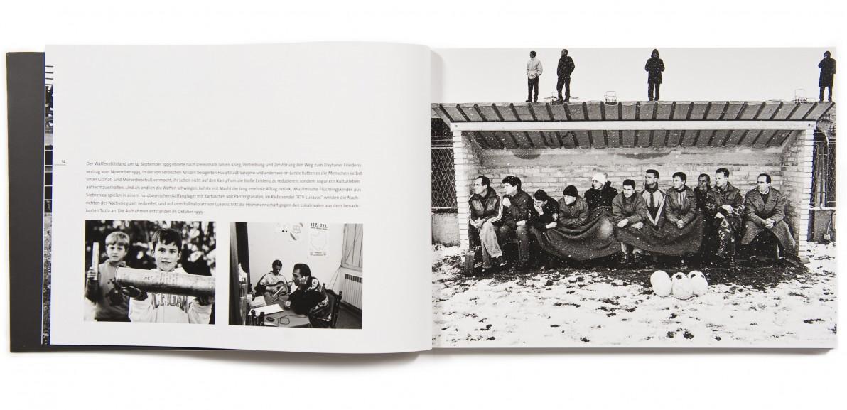 Das Buchprojekt dokumentiert die Nachkriegsjahre in Bosnien von 1995 bis 2001.