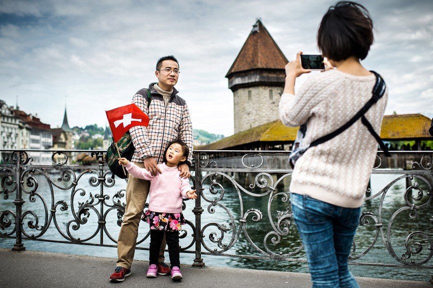 Asian tourists in Lucerne