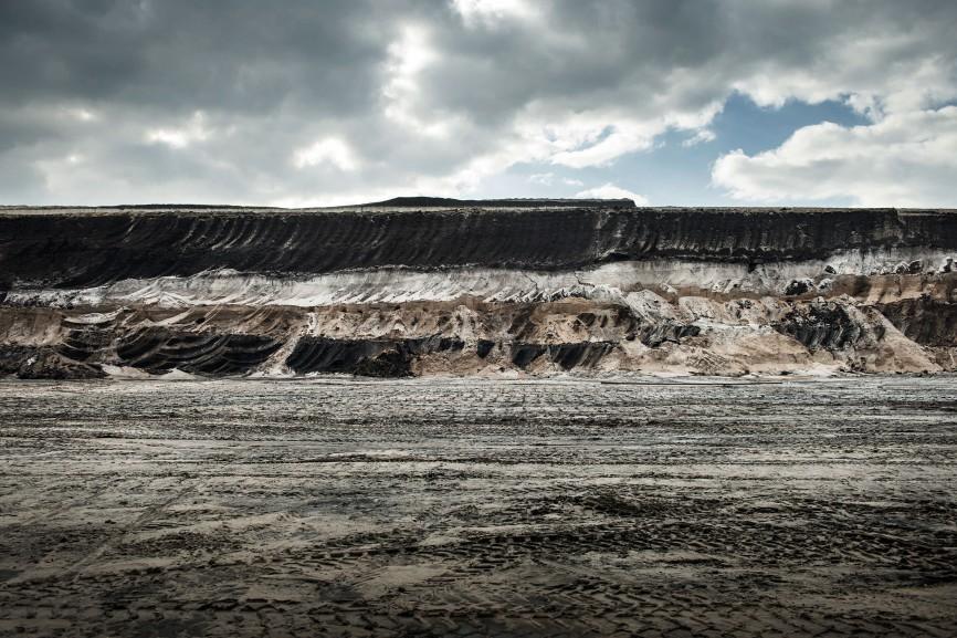 Abbruchkante des Braunkohletagebaus Garzweiler, 2015