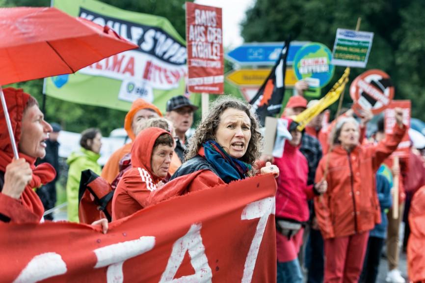 Proteste gegen den Tagebau Garzweiler, 2017