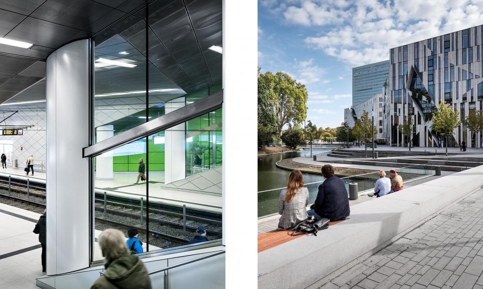 Die U-Bahn-Station Heinrich-Heine-Allee gehört zu den sechs aufwändig gestalteten Stationen der Wehrhahnlinie / Der neue Kö-Bogen in Düsseldorf